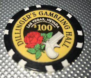 Dillinger's Gambling Hall $100 Poker Chip
