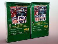 2 1990 Pro Set Football Box Lot Sealed Packs NFL Possible PSA 10
