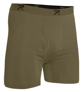 Military Style Performance Underwear Moisture Wicking Boxer Shorts Rothco 3826