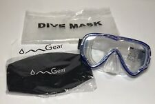 OMGear Swim Goggles with Nose Cover Diving Mask Snorkeling Gear Kids Blue Mask