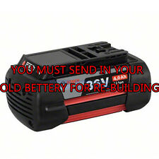 Rebuild service for Bosch BAT836 36-Volt Battery Upgraded to 2.0 A/H Cells