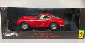 "Hotwheels Elite 1/18 Ferrari 250 GT Berlinetta passo corto ""SWB"" Rare!!!"