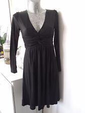 robe empire taille S/M 36 38 40 noire mi longue noire décolleté coton leger été