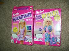 Vintage 1996 Barbie Fashion Designer Cd-Rom and Nib paper refills