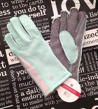 LULULEMON WOMEN'S Run With Me Gloves *fleece NWT Toothpaste Green M-L