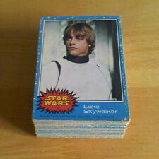 More details for topps star wars trading cards 1977 - uk series 1 (blue) - complete set 1 - 66.