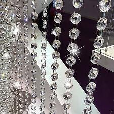 2pcs of 1M Acrylic Crystal Bead Wedding Hanging Drop Chandelier Curtain Wedding