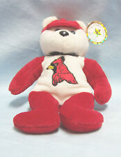 Celebrity Bears Star #25 Red Cardinal on chest of Red and White Bear 9/8/1998