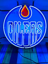 "Edmonton Oilers Light Lamp Neon Sign 17""x17"" with Hd Vivid Printing Technology"