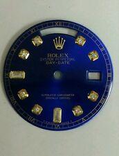 Rolex men's  Day-Date QS candy blue custom 8+2 diamond dial 2-T