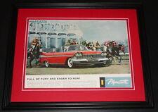 1959 Plymouth 11x14 Framed ORIGINAL Vintage Advertisement