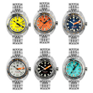 Tactical Frog SUB 300T Diver Watch Men 20ATM NH35A Automatic Watch C3 Tachymeter