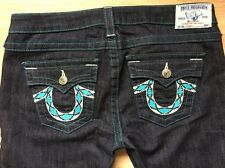 True Religion Jeans Women's Size 31 Skinny Blue Stitching