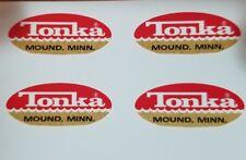 MIGHTY TONKA TRUCK OVAL LOGO DECAL SET'S  1962-1969