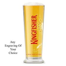 Personalised Branded 1 Pint Kingfisher Beer Glass Birthday Gift Boxed