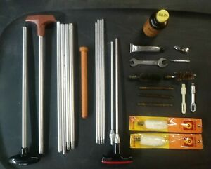 Vintage Outers Master Gun Cleaning Kit accessories  Rifles Pistols Shotgun 27pcs