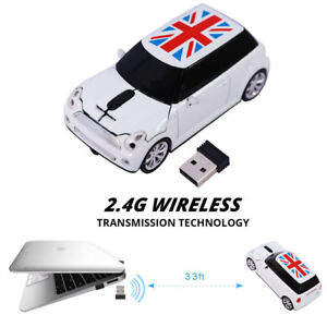 BMW Mini Cooper Car Wireless Mouse Game optical Mice for Laptop PC Xmas gift USB