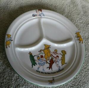 Vintage Shenango China Child's Divided Plate/Restaurant Ware: Pig'N Whistle