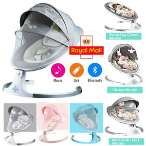Bluetooth Electric Rocker Baby Swing Infant Cradle Bouncer Seat Chair Portable