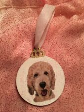Handpainted Goldendoodle Christmas Ornament