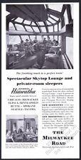 1949 The Milwaukee Road Hiawatha train Skytop Lounge photo vintage print ad