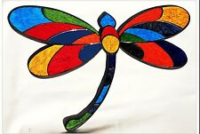 Dragonfly Multi-Colored Mosaic glass wall art Home Decor