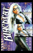 "BLACK CAT #1 Mike Mayhew Studio Variant Cover C ""Con Exclusive"" Signed with COA"
