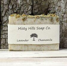 Lavender Chamomile All Natural Vegan Olive Oil Soap Cruelty Free,Ammonia Free