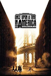 Locandina C'ERA UNA VOLTA IN AMERICA Sergio Leone Robert De Niro Poster Film