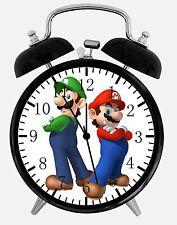 "Super Mario Luigi Alarm Desk Clock 3.75"" Room Decor X35 Nice for Gifts wake up"