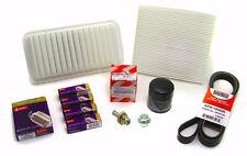 03-08 Corolla/Matrix 1.8L Tune-Up Kit Air/Cabin/Oil Filters+Spark Plugs+Belt