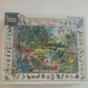 NIB Sealed White Mountain 1000 Piece Puzzle Birds Of The Backyard FREE SHIPPING