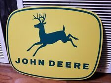 Old style Dealer Sign John Deere Farm Implements Veribrite Signs Chicago Il
