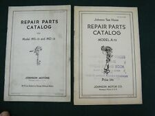 Lot of 2 Original Vintage Outboard Repair Parts Catalogs Johnson Ms15 Md15 A75