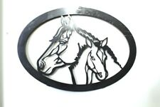 Horse and Foal Wall Art, metal art, wall plaque, Laser/Plasma Cut