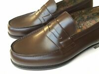 J.M. Weston Brown Leather 180 Penny Loafer Uk 7.5, US 8.5 Made In France $950*