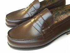 J.M. Weston Brown Leather 180 Penny Loafer Uk 7.5, US 8.5 Made In France $950
