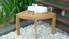Grade-A Teak Wood Corner Stool Seat Shower Spa Bath Outdoor Bench Garden Patio