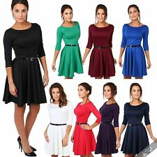 Polyester Party Short/Mini 3/4 Sleeve Dresses for Women
