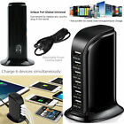 Multi 6 Port USB Charger Fast Charging Station Desktop Travel Hub Wall Adapter