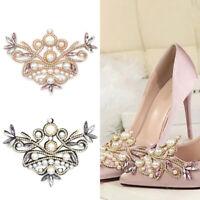 Pearl Bridal Shoes Clip Rhinestone Flower Accessories DIY Wedding Party Decor