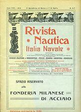Rivista Nautica - Marina militare e mercantile rowing yachting - 6-7/1913 ottimo