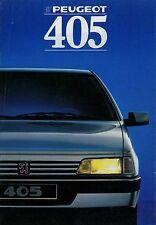 Peugeot 405 Prospekt F 1988 Autoprospekt Broschüre brochure french franz. Auto