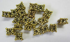 20 New Spacer Beads Boho Gold Metal Beads for Beading & Jewellery Making JF324