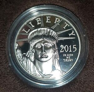 "2015-W LIBERTY NURTURES FREEDOM""TORCHES OF LIBERTY"" 1oz Platinum Proof Coin"