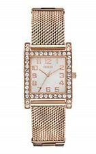 New GUESS woman Rose Gold-Tone Stainless Steel Mesh Bracelet Watch 39mm U0130L3