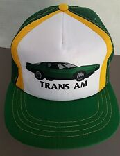 Vintage Green TRANS AM Trucker Cap Hat - Sports Car - Snapback - EUC