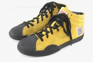 yellow VISION STREET WEAR suede hi top skate shoes sneakers mens 7 womens 8.5