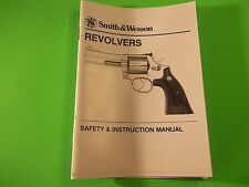 Smith & Wesson Revolver Safety and Instruction Manual, 19 pages