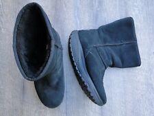 SKECHERS Women's Suede Leather Shape-Ups Boots Black Size 8